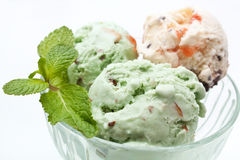 Bowls of Mixed Ice Cream Royalty Free Stock Photography