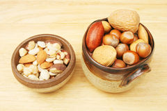 Bowls of nuts Stock Photos
