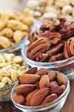 Bowls of nuts Royalty Free Stock Photo