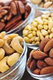 Bowls of nuts royalty free stock photos