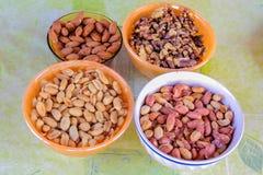 Bowls nuts Royalty Free Stock Photo