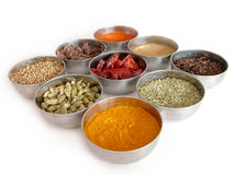 Bowls Of Spices Stock Image