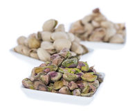 Bowls with Pistachios on white Stock Photo