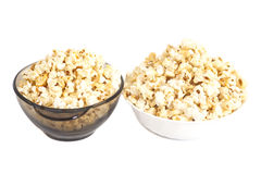 Bowls of popcorn Royalty Free Stock Image