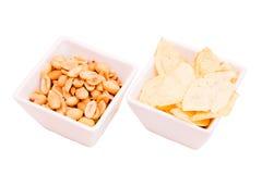 Bowls of pretzels Stock Photos