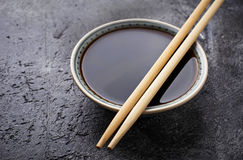 Bowls of soy sauce. Selective focus Stock Photo