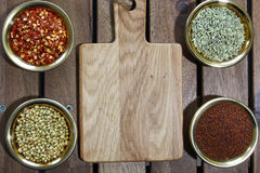 Bowls of spices Stock Photo