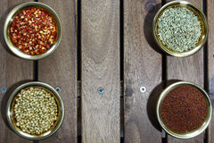 Bowls of spices Royalty Free Stock Images