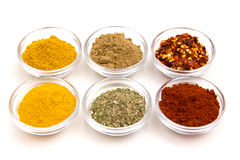 Bowls with spices Stock Images
