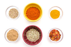 Bowls with spices Stock Photography