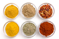 Bowls with spices from Stock Image