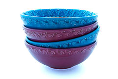 Bowls Stacked Stock Image