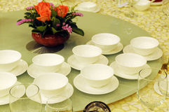The bowls on table Royalty Free Stock Photo