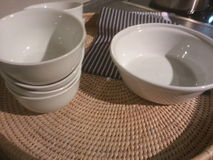 Bowls tableware Stock Images