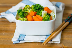 Bowls of variety vegetables Stock Photos