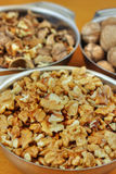 Bowls of walnuts Stock Photography