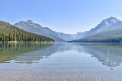 Bowman湖冰川国家公园,蒙大拿 库存照片