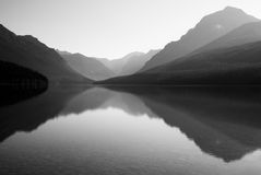 Bowman Lake. In Glacier National Park Stock Photography