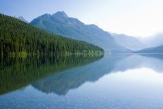 Bowman Lake. In Glacier National Park Stock Photo