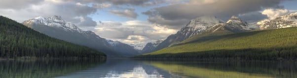 Bowman Lake panorama Stock Photography