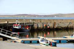 Bowmore Harbour, Isle of Islay, Scotland. Royalty Free Stock Image