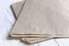 Bown Paper Bag Background Royalty Free Stock Photos