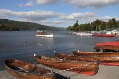 Bowness - Jeziorny Windermere - Jeziorny okręg - Anglia Zdjęcia Stock