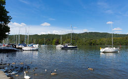 Bowness na Windermere Jeziorny Gromadzki Cumbria Anglia UK Obraz Royalty Free