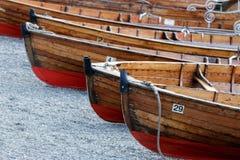 BOWNESS NA WINDERMERE, jezioro DISTRICT/ENGLAND - SIERPIEŃ 20: Rowin Obrazy Royalty Free