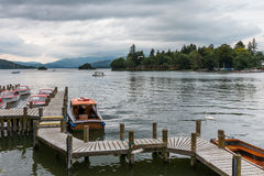 BOWNESS ON WINDERMERE, LAKE DISTRICT/ENGLAND - AUGUST 20 : Boats Stock Photo