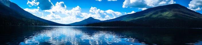 Bowron Lakes Panoramic Sunny View royalty free stock images