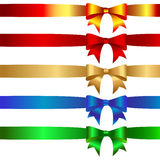 Bows. Collection of celebratory bows. Vector Stock Image