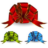 Bows. Collection of celebratory bows. Vector Royalty Free Stock Photo