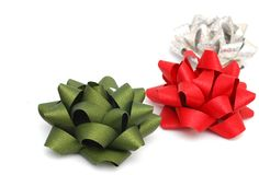 The bows. Decoration with the colored bows Stock Image