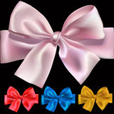 Bows. Set of shiny bows for design,  illustration, mesh used Stock Photo