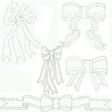 Bows Assorted Black & white Royalty Free Stock Photography
