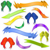 Bows, banners and arrows Royalty Free Stock Photos
