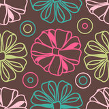 Bows-on-brown-pattern Royalty Free Stock Photos