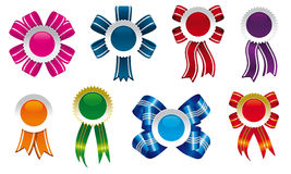 Bows and cockades design Royalty Free Stock Image