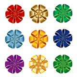 Bows collection. Nine elegant bows in different colors isolated on a white background Royalty Free Stock Image