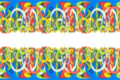 Rubber bands. Bows of colorful rubber bands lie on top of each other royalty free illustration