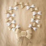 Bows in gold and silver Royalty Free Stock Photo
