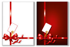 Bows with greeting cards Royalty Free Stock Images