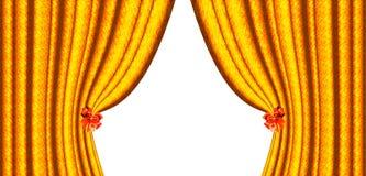 bows hänger upp gardiner yellow två stock illustrationer