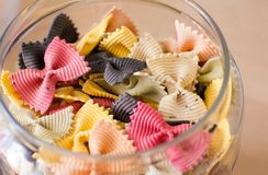Bows - Italian Pasta Stock Images