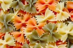 Bows - italian pasta Royalty Free Stock Image