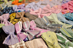 Bows. A lot of bow ties in a clothing store Stock Photo