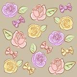 Bows`n`roses Royalty Free Stock Image