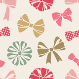 Bows-pattern Royalty Free Stock Photography
