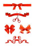 Bows and ribbons Stock Images